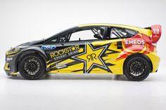 2013 Rockstar Energy Drink US Ford Racing Fiesta ST rallycross car.