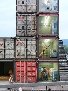 + Repurposed Container Homes Container Van, Container Office, Sea Container Homes, Container Home Designs, Cargo Container, Container Houses, Container Store, Sea Containers, Casas Containers
