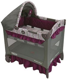 Graco's Travel Lite Portable Crib, in Nyssa, gives your little one a familiar place to rest, either at home or away. She'll sleep soundly with the ultra-comfy baby travel crib, which features a removable portable bassinet. For your convenience, this travel crib is designed to be 20% smaller than traditional playards.