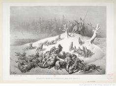 Cosaques baskirs poursuivis par des loups. : [estampe] / G. Doré   Gallica