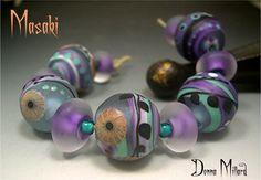 Handmade LAMPWORK Beads DONNA MILLARD sra lamp by DonnaMillard, $75.00 - these are mine, leave them alone! :-)
