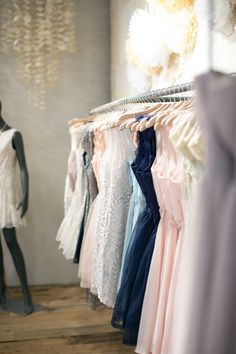 Pretty dresses in a row