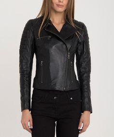 Cazadora negra de piel con descuento Leather Jacket, Jackets, Fashion, Fall Season, Black, Trends, Colors, Studded Leather Jacket, Down Jackets