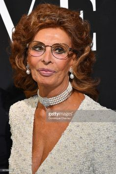 Sophia Loren attend the Giorgio Armani Prive Haute Couture Fall/Winter 2017-2018 show as part of Haute Couture Paris Fashion Week on July 4, 2017 in Paris, France.