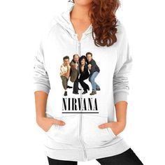 Nirvana Seinfeld Zip Hoodie (on woman) Shirt