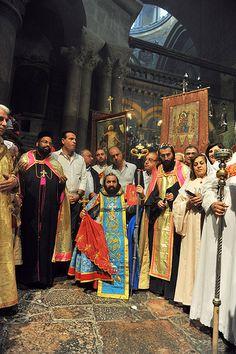 Syriac procession. Easter celebration