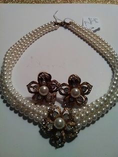 Vintage Pearl and Gold necklace. Terrific addition to your jewelry collection. Available April 21st at an Atlanta estate sale.