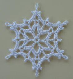 2016 Snowflake Crochet pattern by Agrarian Artisan – Snowflakes WorldСhristmas snowflakes crochet snowflakes set of 6 Xmas di N Free Crochet Snowflake Patterns, Crochet Stars, Crochet Motifs, Christmas Knitting Patterns, Crochet Snowflakes, Crochet Doilies, Crochet Christmas Decorations, Crochet Decoration, Crochet Ornaments