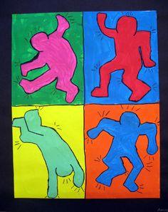 Keith Haring  Projet gradeur nature que je fais avec mes élèves en ateliers (à faire en équipe de 2 ou 4)