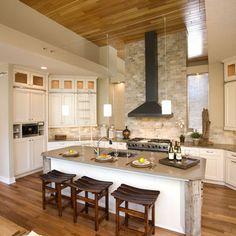 Contemporary Kitchen Slate Backsplash, White Cabinets Design, Pictures, Remodel, Decor and Ideas