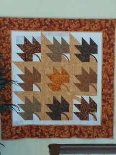 Maple Leaf Shadow Quilt - very cool