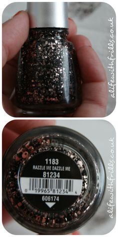 CHINA GLAZE 'RAZZLE ME DAZZLE ME' NAIL VARNISH  http://www.alifewithfrills.co.uk/post/47184693524/beauty-review-china-glaze-razzle-me-dazzle-me-nail