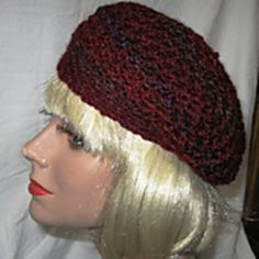 UPDATE: I have corrected a typo in the pattern where a 2 was where a coma should have been. Crochet Beanie, Crochet Hats, Seed Stitch, Slouchy Beanie, Beret, Beanies, Crochet Clothes, Seeds, Clothing