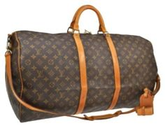 Louis Vuitton Bandouliere Keepall Monogram Travel Bag