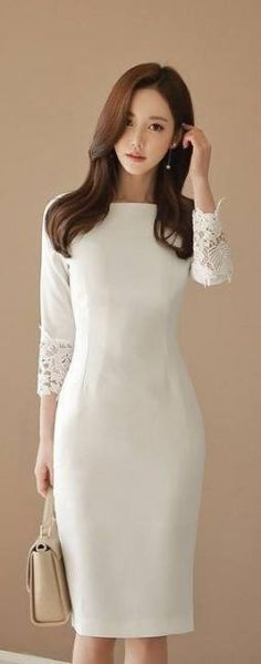 Korean Fashion Online Store 韓流 Trends Luxe Asian Women 韓国 Style Shop kor… - Cocktail dress new Modest Fashion, Trendy Fashion, Fashion Models, Fashion Dresses, Womens Fashion, Fashion Clothes, Style Fashion, Woman Dresses, Style Clothes