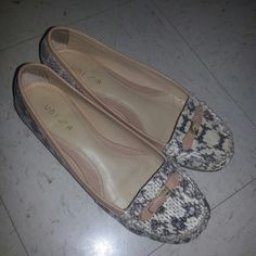 *final price *Cute Loafer!! Snakeskin Unisa Shoes