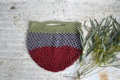 Crochet market bag eco friendly shopping bag  grocery bag