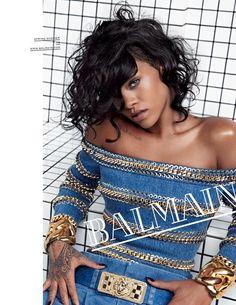 Balmain S/S 14 (Balmain)///Rihanna/// Credits for this picture: Olivier Rousteing (Designer) Inez van Lamsweerde and Vinoodh Matadin (Photographer)