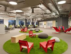 #Skype's #Palo #Alto Headquarters ...they have those chairs on the far right in the new downtown library....so cool!
