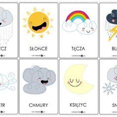 Pogoda - książeczka aktywizująca - Printoteka.pl Juki, English Lessons, Montessori, Playing Cards, Education, Playing Card Games, Onderwijs, Learning, Game Cards