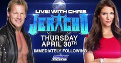 "World Wrestling Entertainment (W.W.E.) part owner Stephanie McMahon will appear on a special live podcast with (w/) ""Y2J"" Chris Jericho on WWE Network April (Apr.) 30th, 2015, immediately following WWE SmackDown; I surely hope you will (you'll) tune in to this WWE (Network) exclusive! :-)"