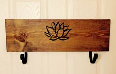 Home and living handmade yoga mat holder yoga rack by YogaWares