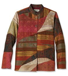 Just found this Colourful Jackets for Women - Kerala Tapestry Patchwork Jacket -. - Just found this Colourful Jackets for Women – Kerala Tapestry Patchwork Jacket — Orvis UK on Or - Quilted Sweatshirt Jacket, Quilted Jacket, Quilted Clothes, Sewing Clothes Women, Jackets For Women, Textiles, Quilting, 38 Super, Couple Weeks