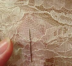 How to: Mending Torn Lace | Carry on, Gorgeous!