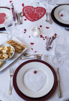 Valentine's Day Table Display; Hearts