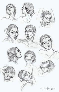 la cara de dibujo