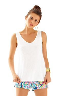 GiGi V-Neck Tank Top - Lilly Pulitzer Resort White