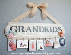 """Learn how to make this """"Grandkids Make Life More Grand"""" photo display over at My Simple Obsession! Especially cute for those grandparents that like to show off the grandkids to everyone.  Related PostsA Homemade Christmas Gift: Yard YahtzeeA Homemade Christmas Gift: Personalized TowelA Homemade Christmas Gift: Pillow MattressA Homemade Christmas Gift: a Snowflake PillowEdit […]"""