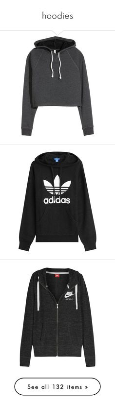 """hoodies"" by mihai-theodora ❤ liked on Polyvore featuring tops, hoodies, sweatshirts, sweaters, shirts, long hoodie, dark grey shirt, long length shirts, sweatshirt hoodies and short shirts"