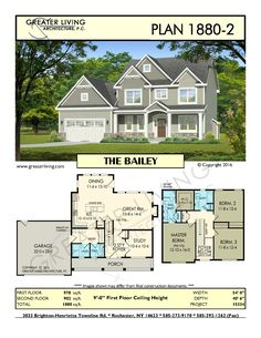 Etonnant Plan THE BAILEY   House Plans   2 Story House Plan   Greater Living  Architecture   Residential Architecture Wider By 10 Feet, Bigger Laundry  Room And Pantry ...