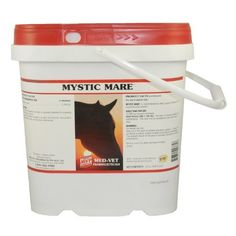 Mystic Mare - 12 oz (69-90 servings) by Med Vet Pharmaceuticals. $26.75. MYSTIC MARETM is an herbal supplement recommended for mares with hard cycles and to help support healthy hormonal/nervous system.   Feed adult horses (900-1,100 lbs): Provide 1 measure daily for maintenance.  This level may be doubled for the first 14-21 days.  Measure included and the 12 oz size provides up to a 90 day supply for one average horse.