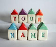 MADE TO ORDER Custom Name Village by thelittlereddoor on Etsy