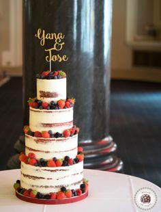Berries Semi Naked Wedding Cake