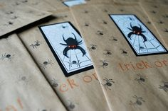 Decorate Trick or Treat bags with stickers, name with Sharpie, before Trick or Trunk starts