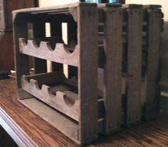 apple crate wine rack