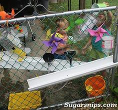 Easy outdoor water wall from Sugarsnips Water Walls, Gross Motor, Outdoor Play, Homeschooling, Classroom, Games, Easy, Fun, Inspiration