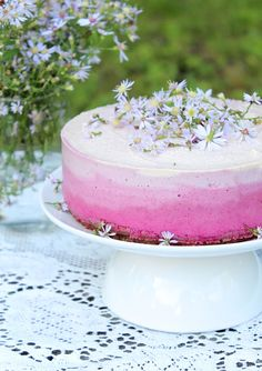 Raw Vegan Ombre Cheesecake | Pure Ella                                                                                                                                                                                 More