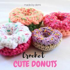 Crochet Cute Donuts - a calorie-free sweet treat