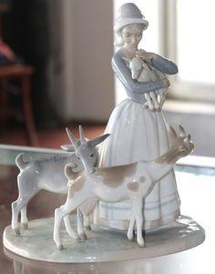Lladro Figurine Shepherdess w Goats Lladró Retired | eBay