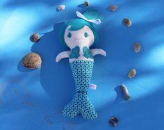 Mermaid Doll Cloth Doll Rag Doll Soft Doll by StorybookFeltsDolls