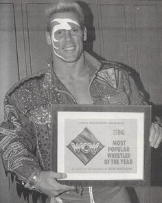 Sting: Most Popular Wrestler of the Year - WCW Magazine Reader Awards [1992]Happy birthday, Stinger!