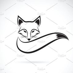 Vector of a fox design by yod67 on @creativemarket