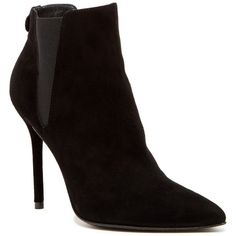 Stuart Weitzman Apogee Bootie (€220) ❤ liked on Polyvore featuring shoes, boots, ankle booties, ankle boots, blasue, fur lined boots, pointy toe booties, high heel bootie, high heel booties e bootie