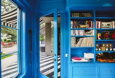 10 Style Tips from Austin's Hotel Saint Cecilia - One Kings Lane (Sherwin Williams H03520) custom blue