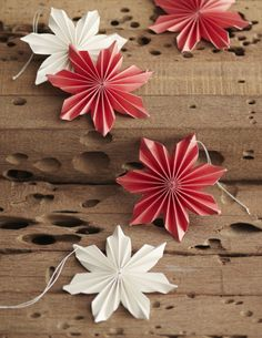 Paper Poinsettia Ornaments design by Roost | BURKE DECOR