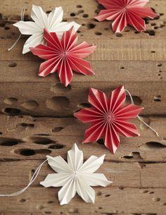 Paper Poinsettia Ornaments design by Roost | BURKE DECOR